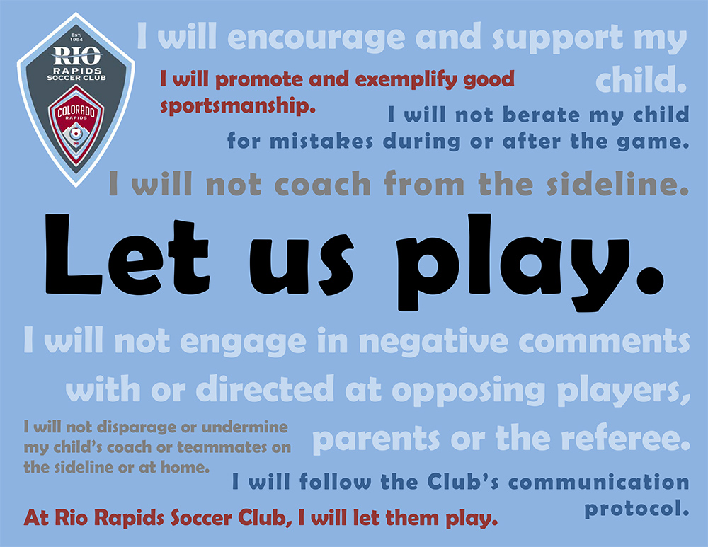 Rio Rapids SC Let Us Play Message