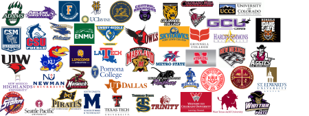 2015 Rio Rapids Alumni Colleges Graphic