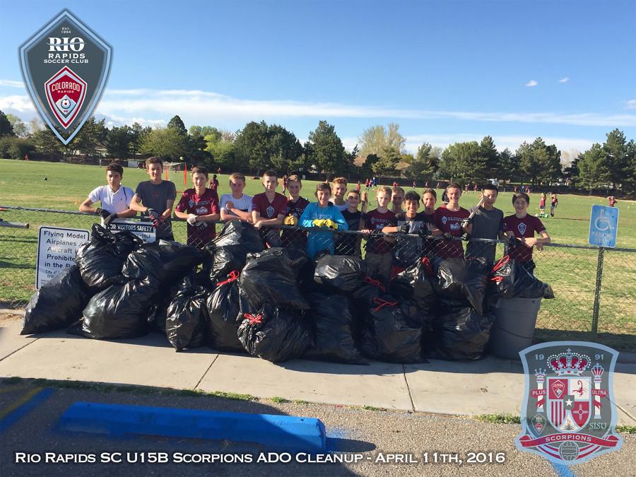 Rio Rapids SC U15B Scorpions ADO Cleanup Event