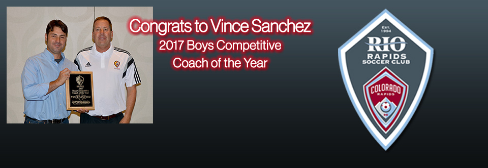 Vince Sanchez – 2017 Boys Competitive Coach of the Year