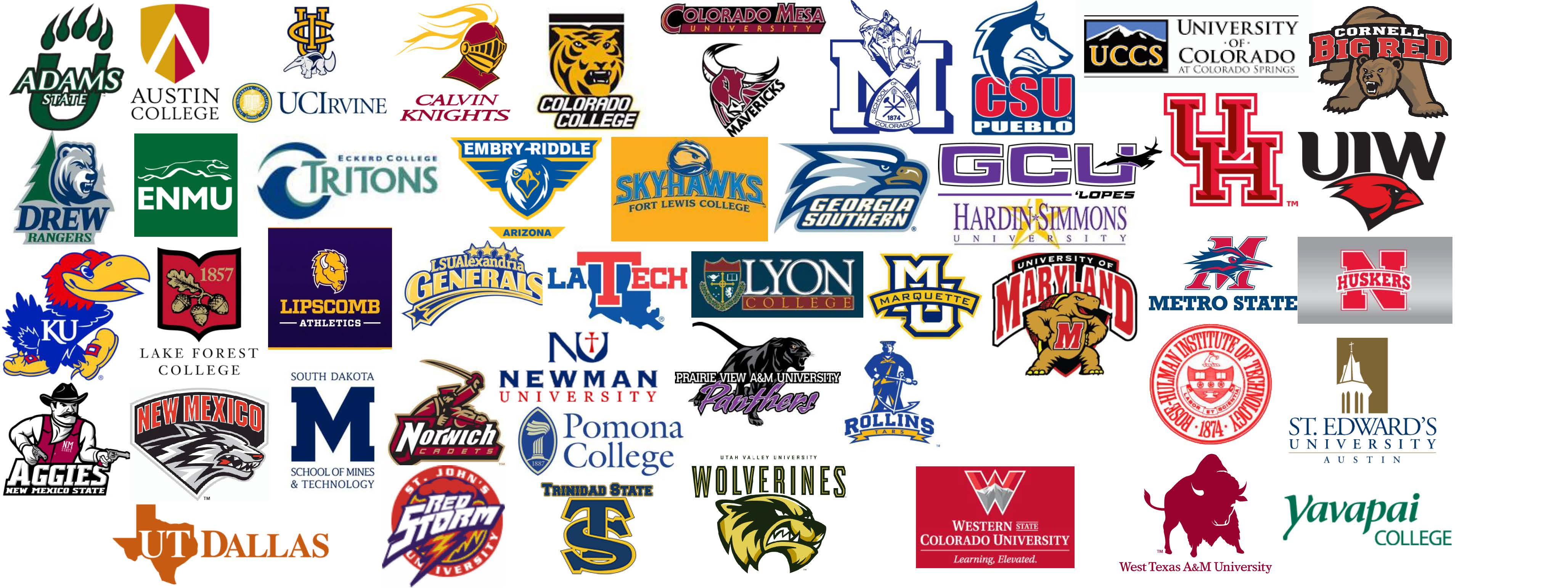 2014 Rio Rapids Alumni Colleges Graphic