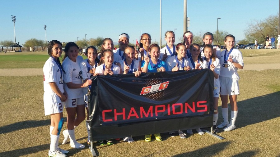 U14G Rio Rapids SC Red Devils on a 1st place finish at the Desert Classic Tournament in Phoenix