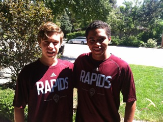 Foster gbogbo (right) was part of rio rapids striker sc in las cruces. He played for the 99 boys. Sam brill (left) was part of rio rapids sc 98 boys in albuquerque.