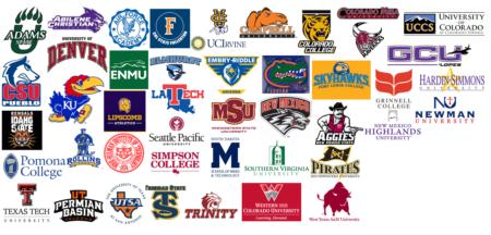 2016 rio rapids alumni colleges graphic