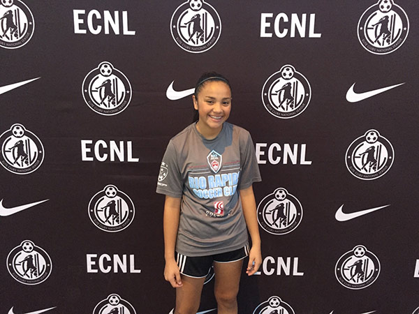 Alex Peralta makes her ECNL Debut!