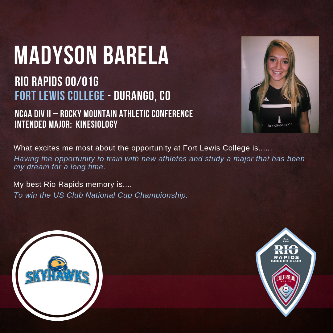 Rrsc instagram madyson barela college commitment