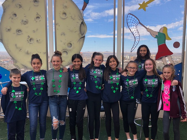 Rio 06 Girls Decorate Hospital for St. Patricks Day!
